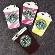 3D Cartoon Silicon Starbuck Coffee Cup Case Cover for Apple iPhone