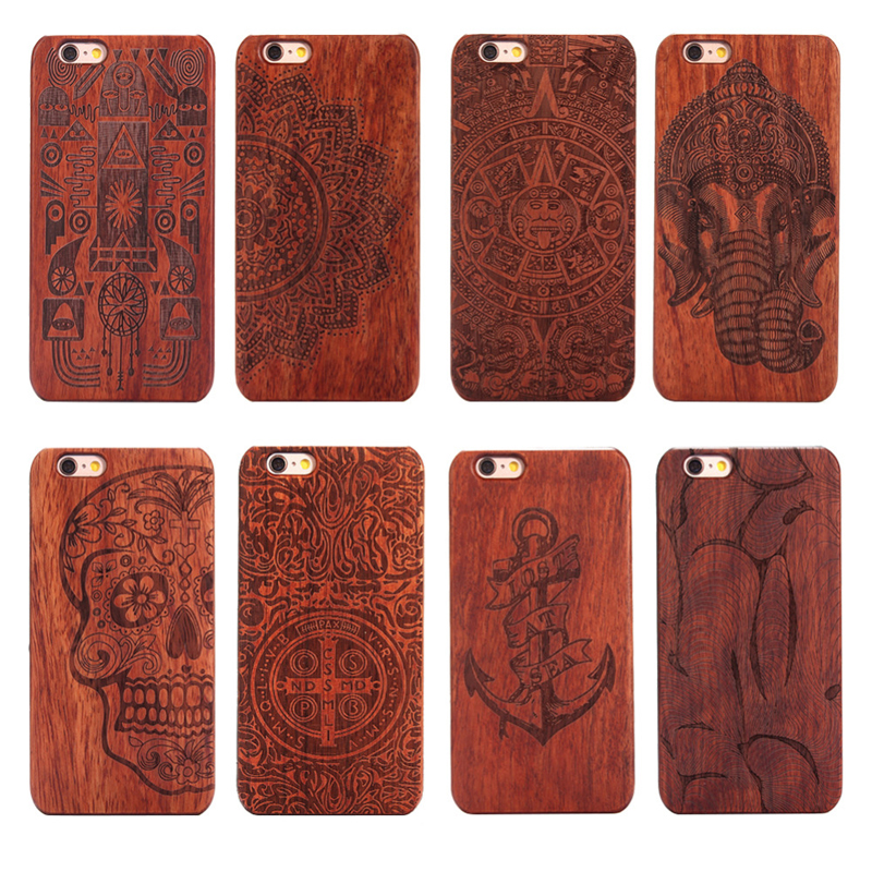 Woodcarving Case for iPhone 6 6s Luxury Wooden PC Case for iPhone 6 6s