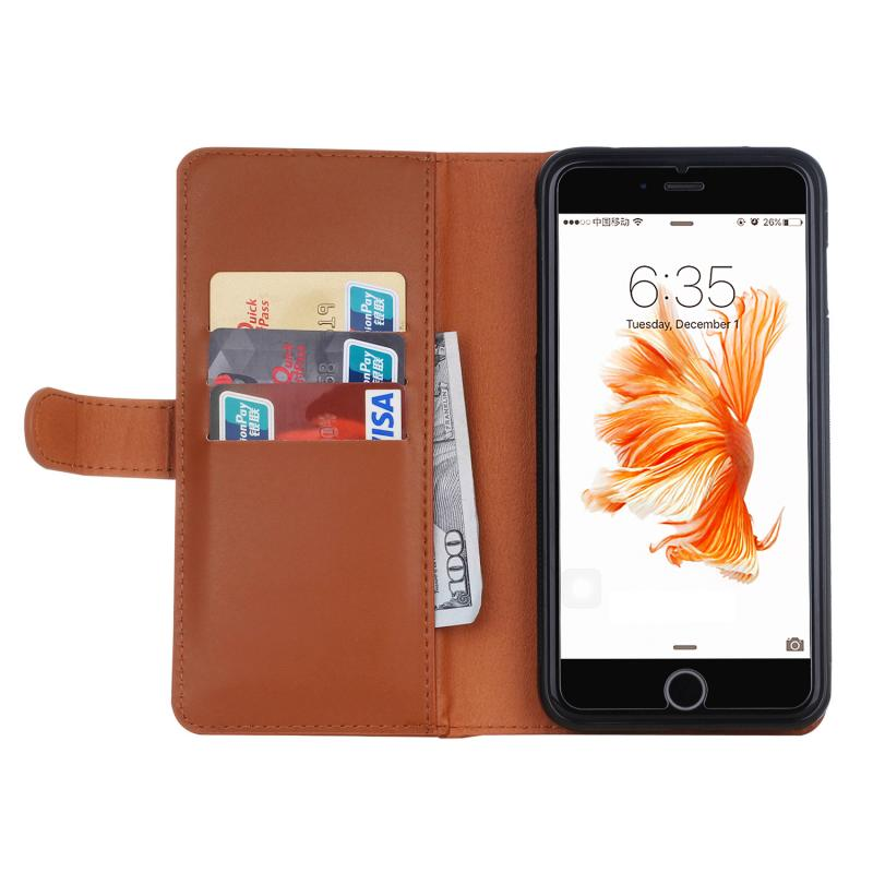 2 in 1 Zipper Mobile Phone Leather Case for iPhone 7