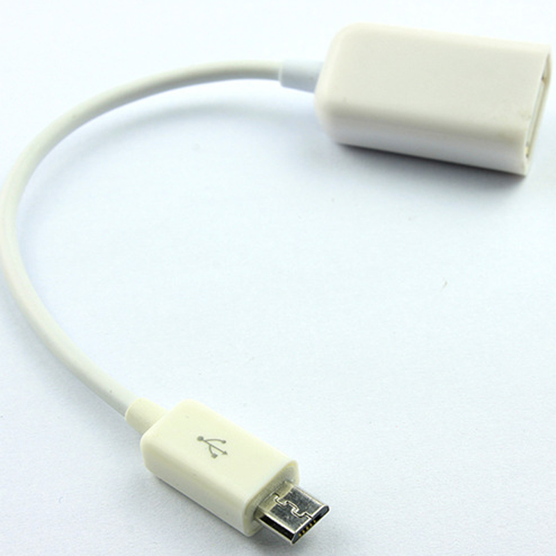 5in Micro USB to USB OTG Host Adapter - Micro USB Male to USB A Female On-The-GO Host Cable Adapter