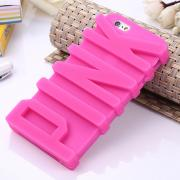 Pink Silicone Phone Case for iphone 5/5s/se/6/6 plus