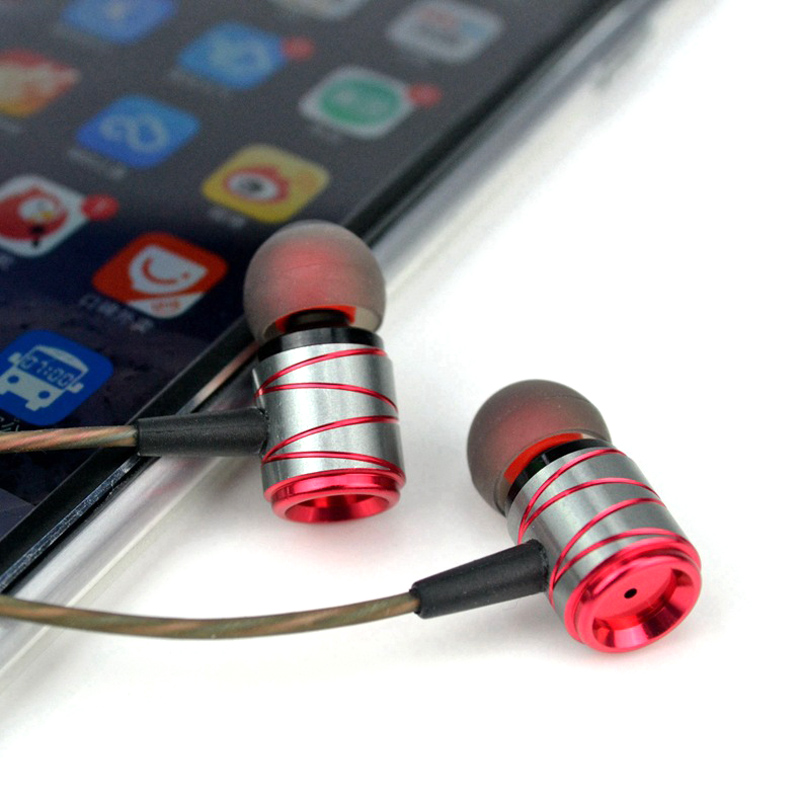 Metal Wired Earphone for iPhone/iPad/MP3/Smart Phone